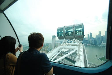 シンガポールフライヤーにテンションあがる