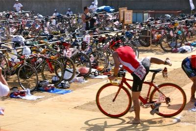 伊良湖のバイク乗車位置